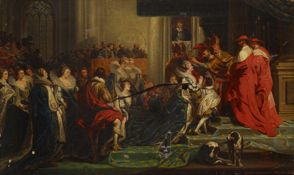 Maria de' Medicin kruunaus, kopio Peter Paul Rubensin mukaan