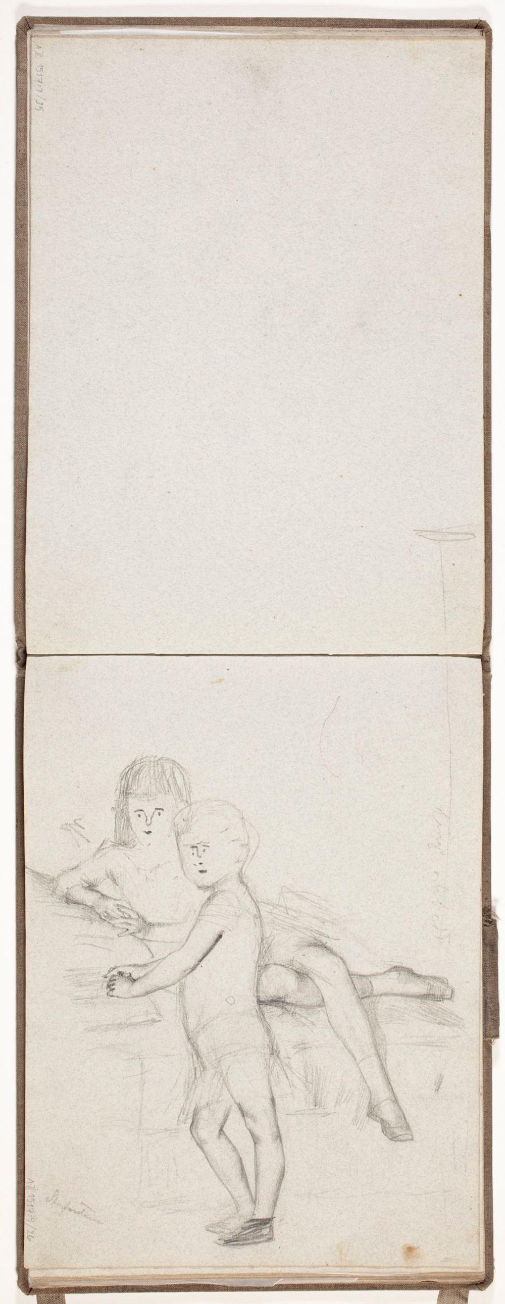 Aleksanteri III :n lapset Mihail ja Ksenia, luonnos