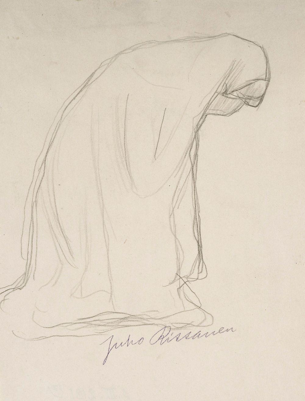 Itkevä nainen, tutkielma Nilsiän kirkon alttaritauluun