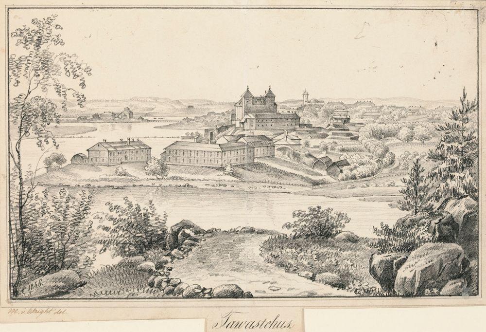 Hämeenlinna ; Kuvitusta teokseen Finland framställdt i teckningar