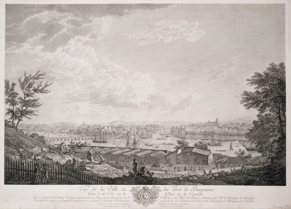Vue de la ville et du port de Bayonne, nro 11