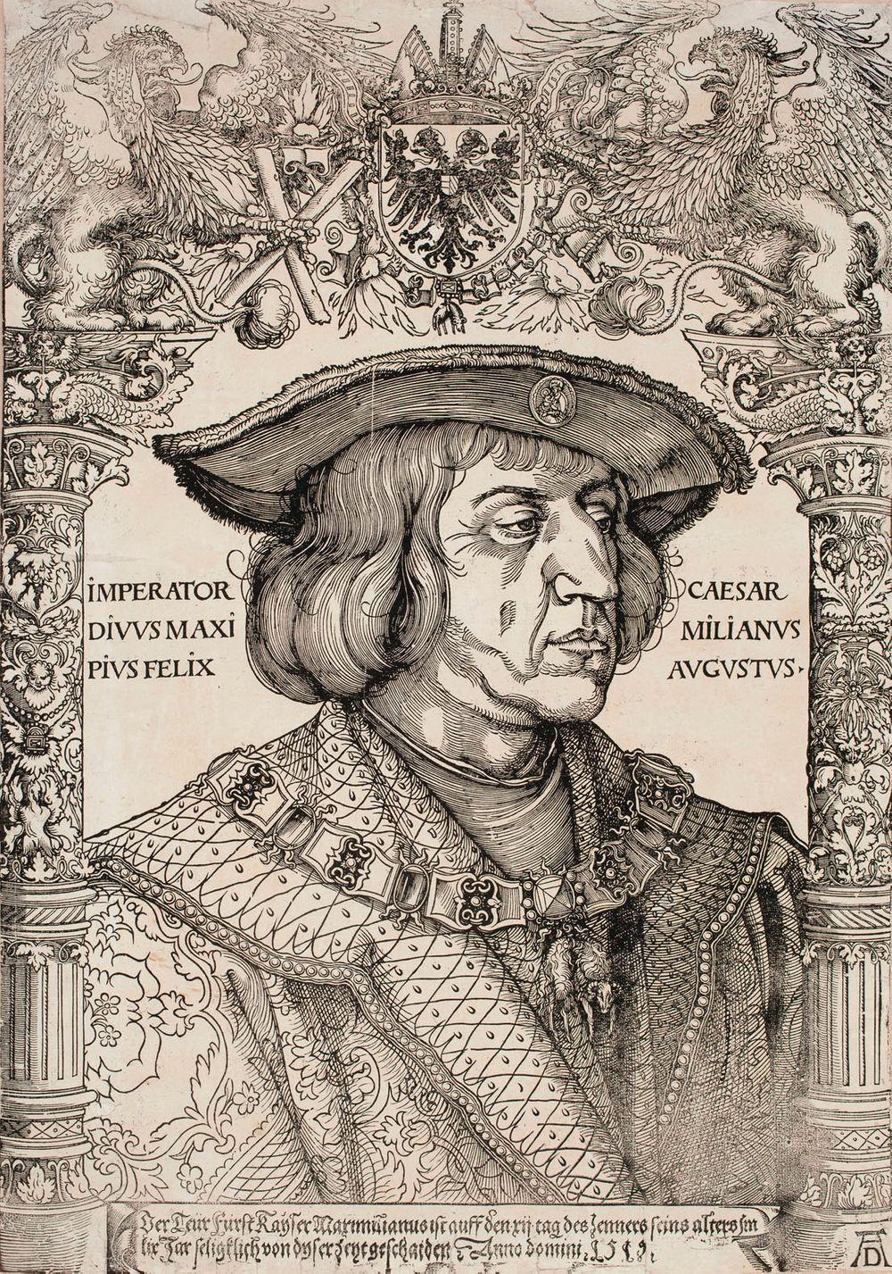 Keisari Maximilian rintakuva