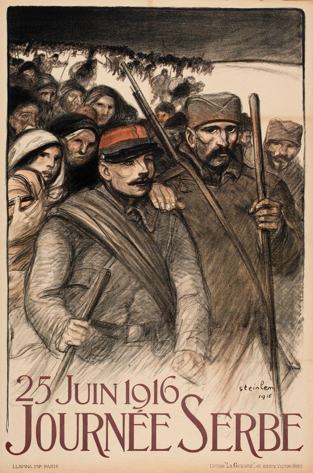 25 Juin 1916 Journée Serbe (juliste)