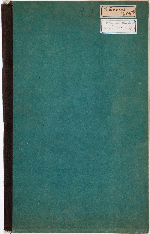 Luonnoskirja, noin 1902 - 1909