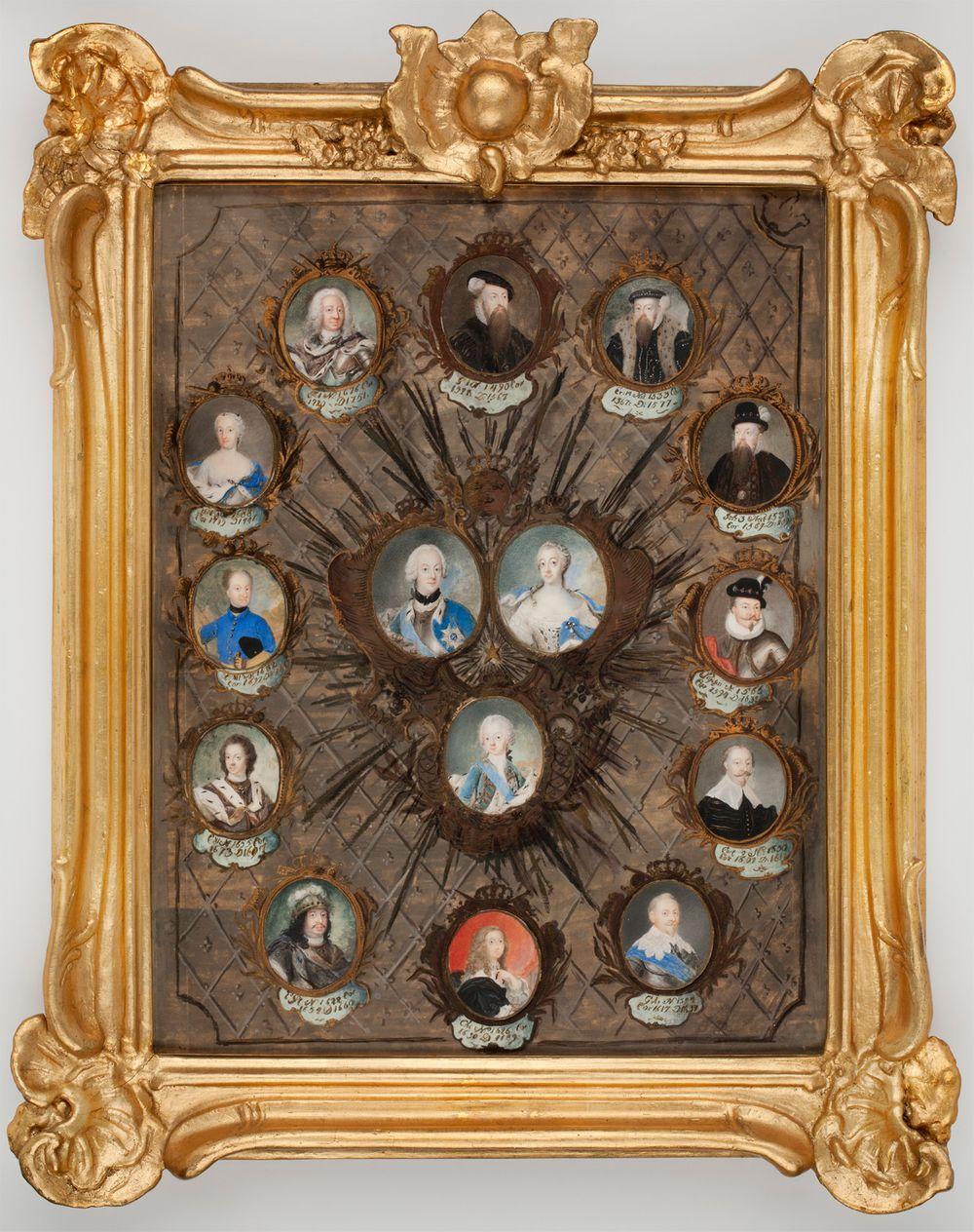 Miniatyyri 15 Ruotsin hallitsijaa