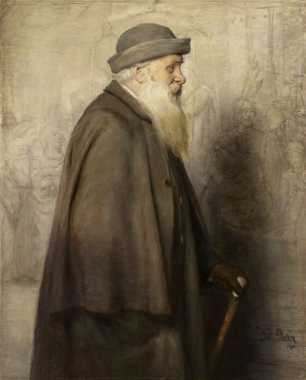 Tanskalaisen taidemaalari Lorenz Fröhlichin muotokuva