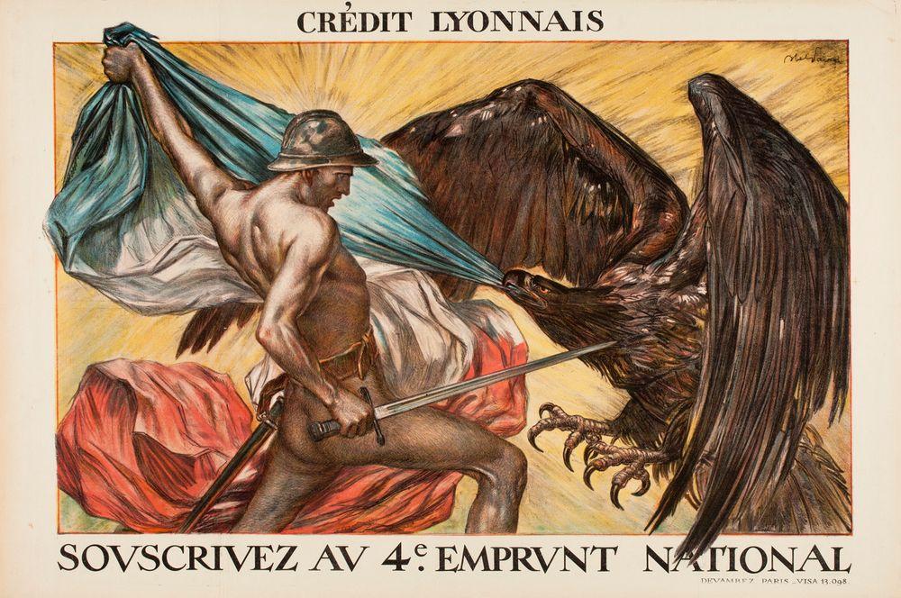 Souscrivez au 4e Emprunt National, Crédit Lyonnais (juliste)