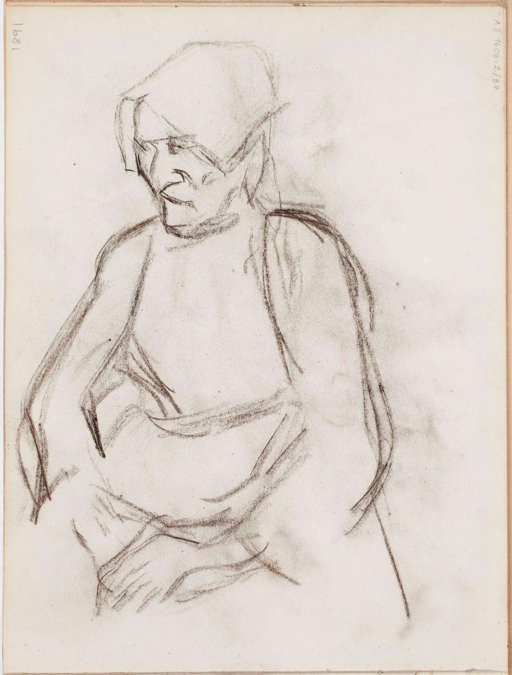 Luonnos maalaukseen Bretagnelainen nainen