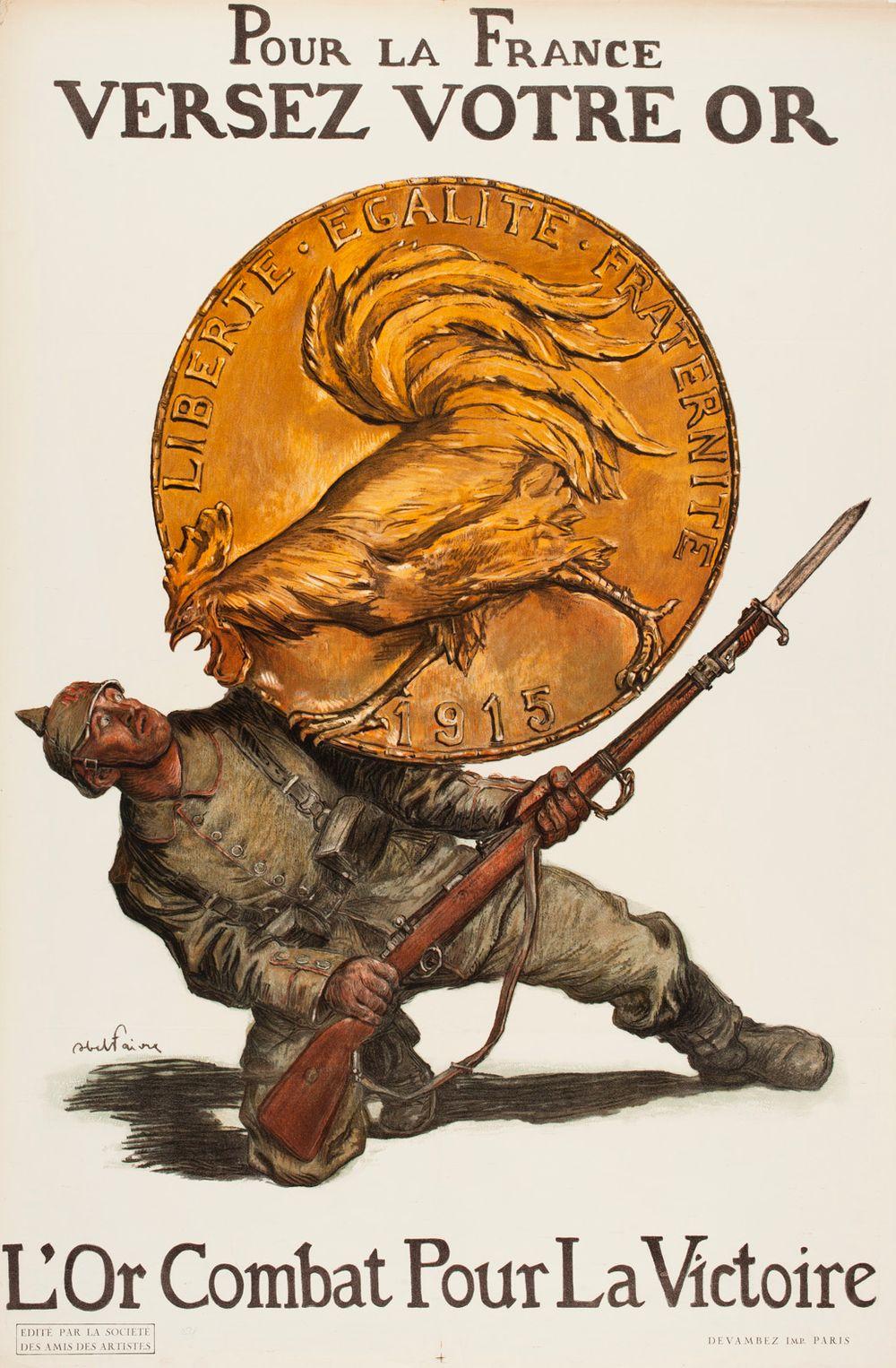 Pour la France versez votre or. L'Or Combat pour la Victoire (juliste)