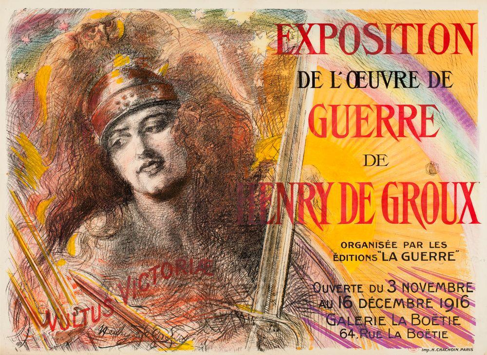Exposition de l'oeuvre de guerre de Henry de Groux (juliste)