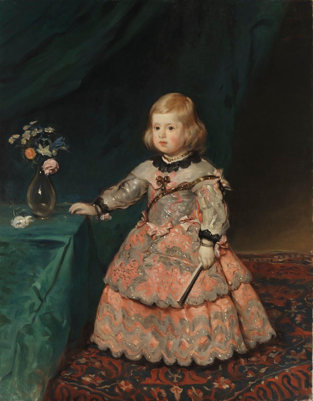 Infantinna Maria Teresia, kopio Velázquezin mukaan
