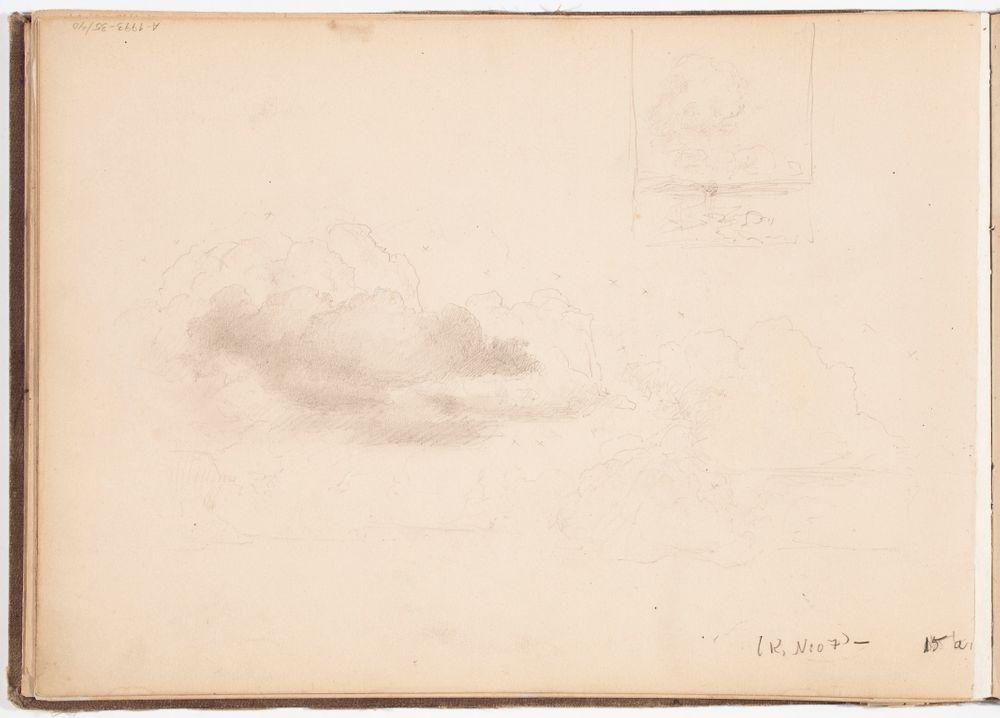 Pilviharjoitelma. Maisema. Todennäk. 1880-luvun jälkipuol.