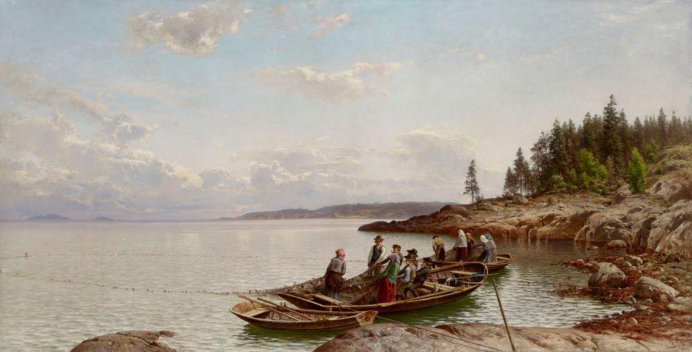 Aamuhetki suomalaisessa saaristossa