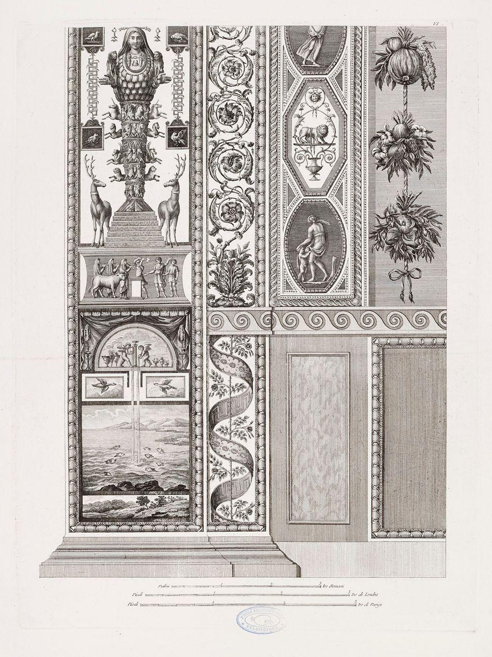 Salkusta: Architettura ed ornati della loggia del Vaticano