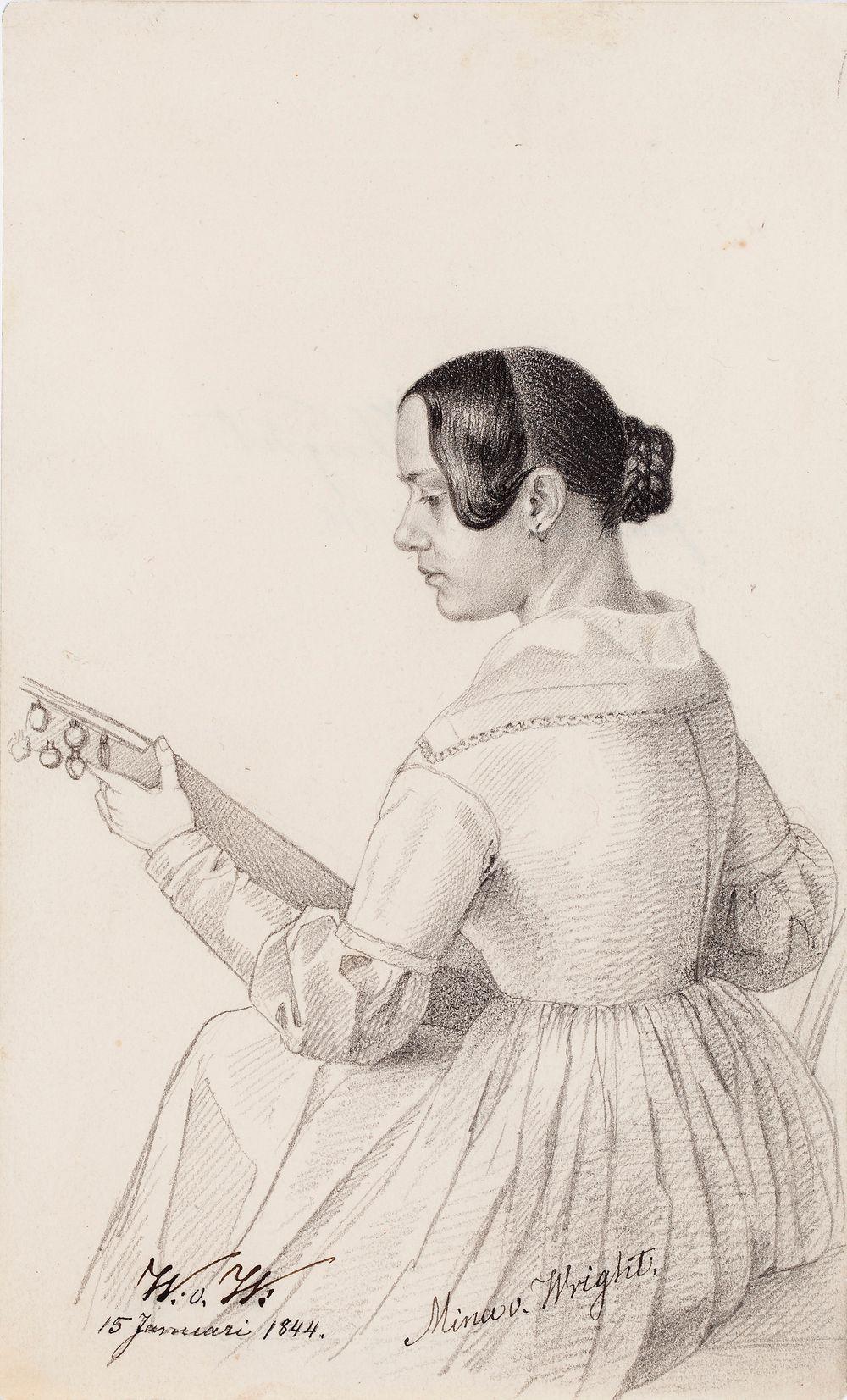 Mina von Wright, taiteilijan sisar