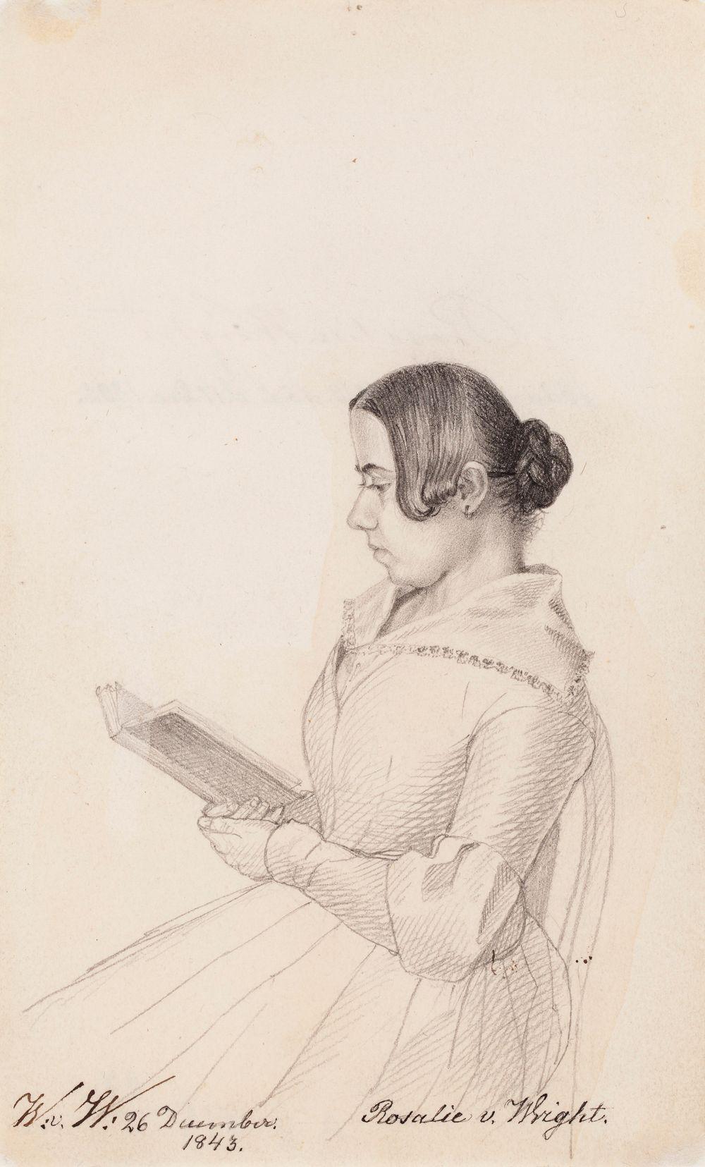 Rosalie von Wright, taiteilijan sisar