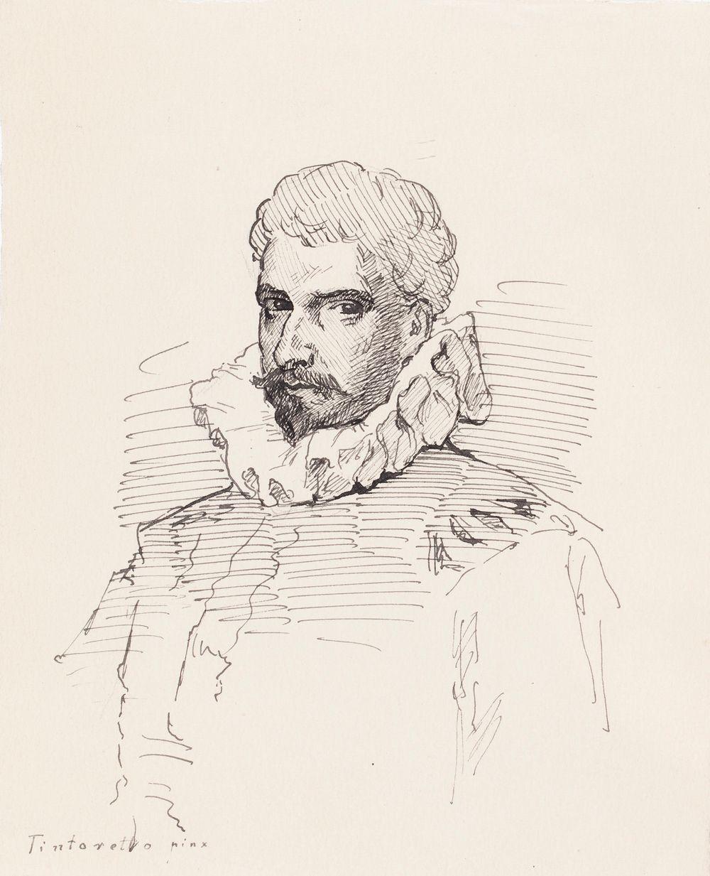 Miehen rintakuva, Tintoretton mukaan