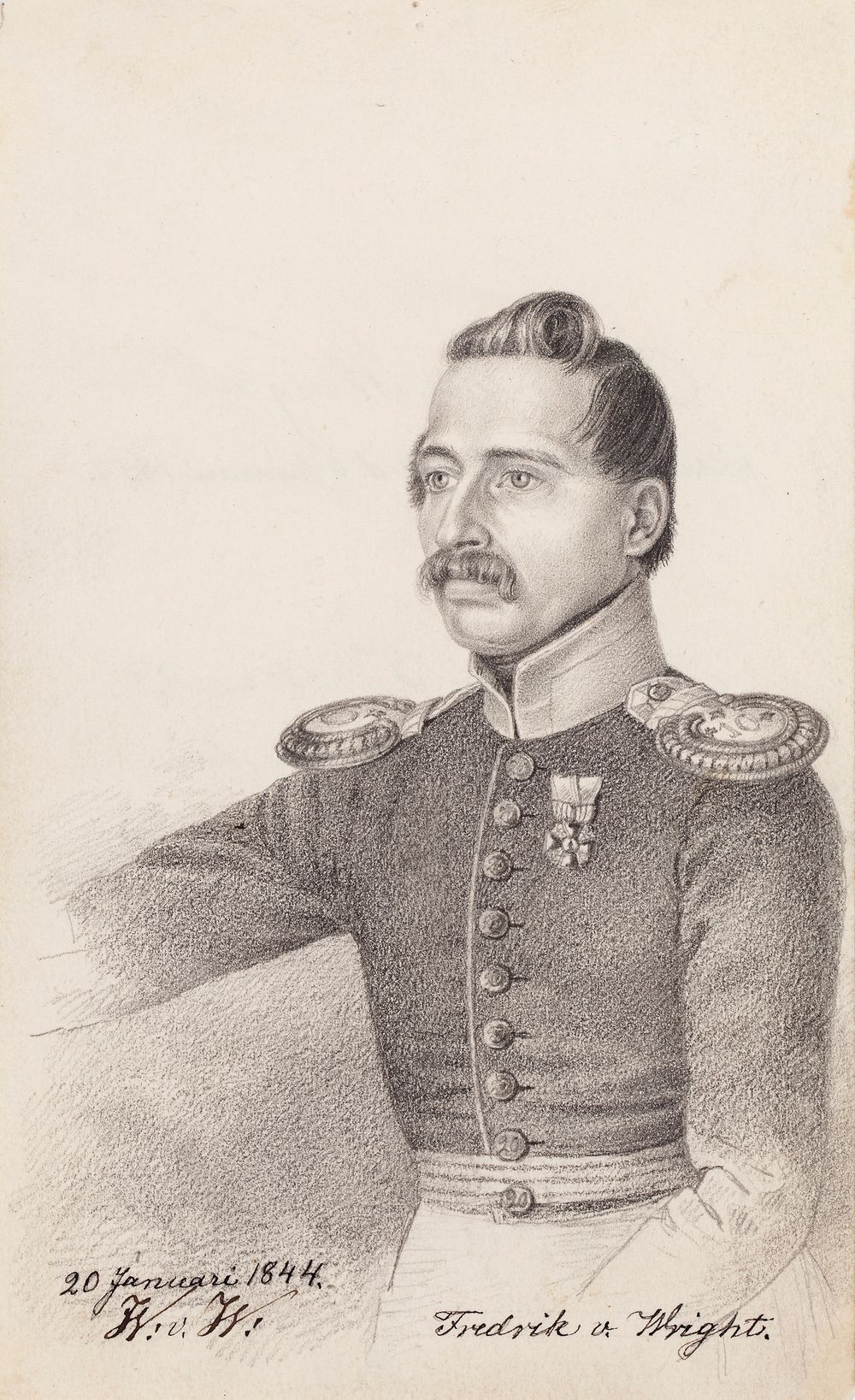 Fredrik von Wright, taiteilijan veli