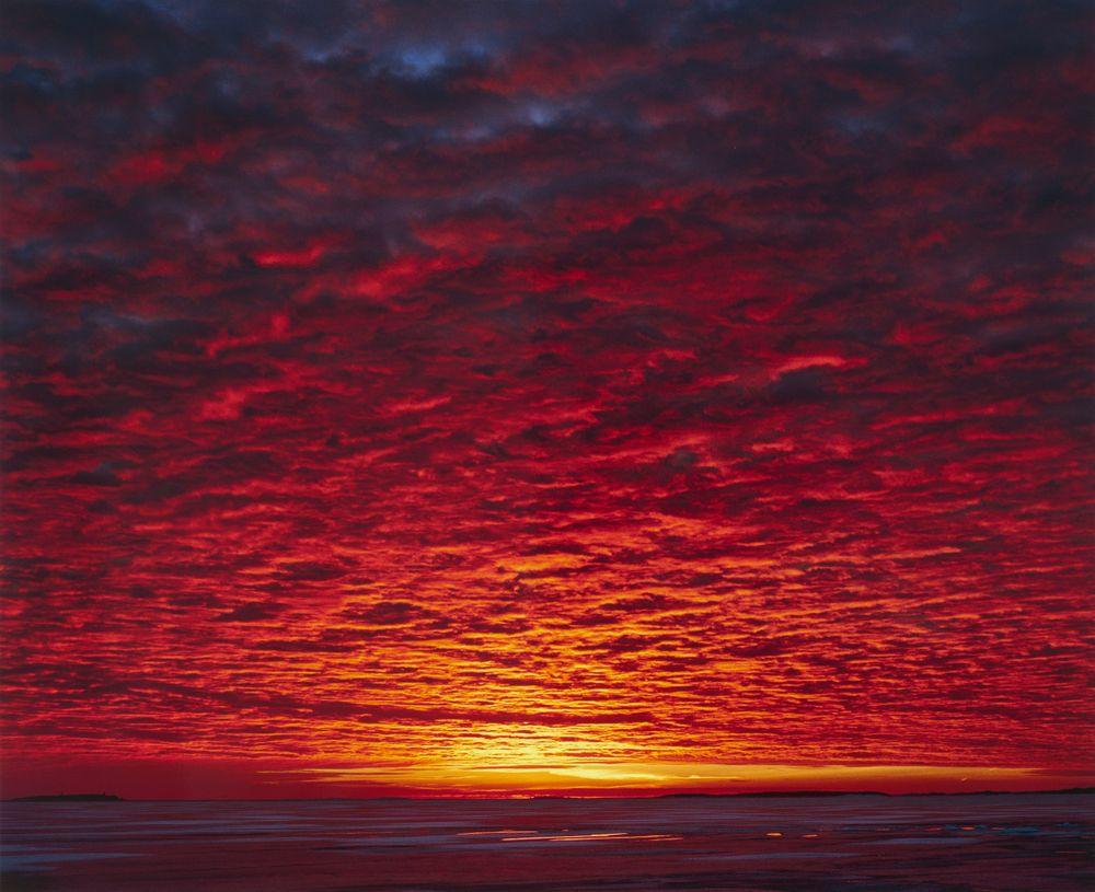Auringonlasku sarjasta Maisemat
