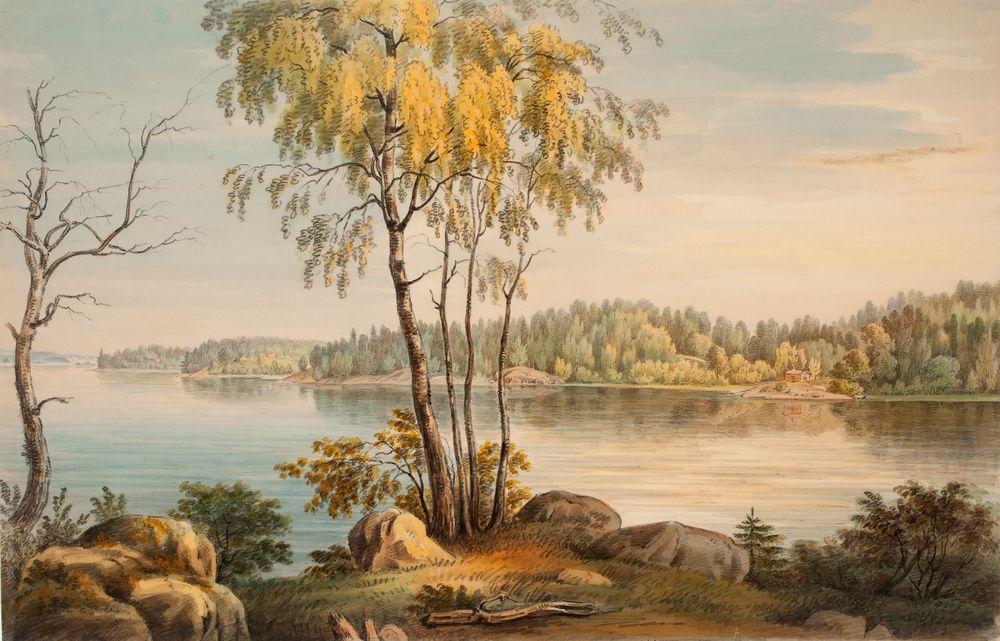 Rantamaisema Träskändan kartanon läheltä