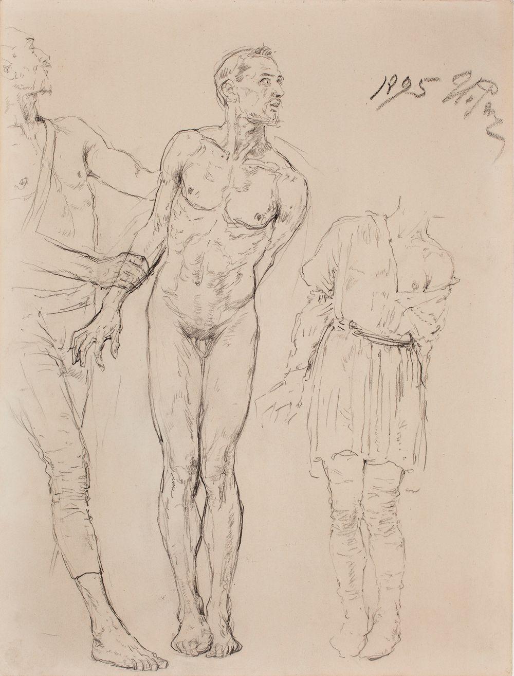 Luonnos maalaukseen Pyhä Nikolaus Lyykian Myrasta