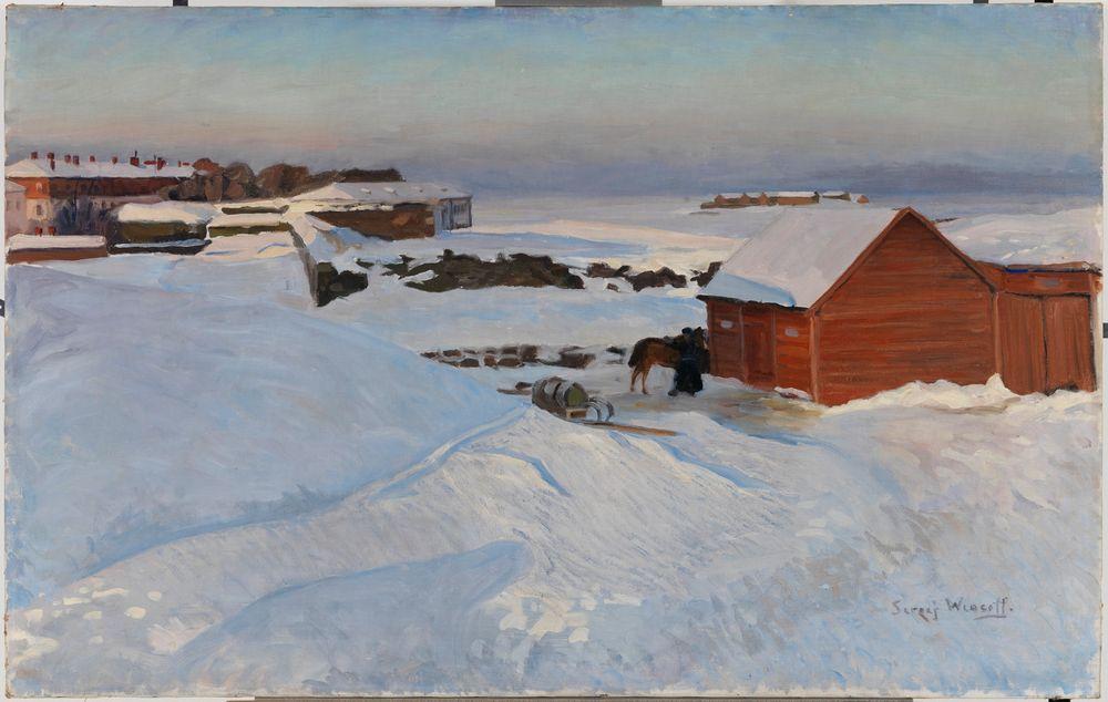 Suomenlinnaa helmikuussa