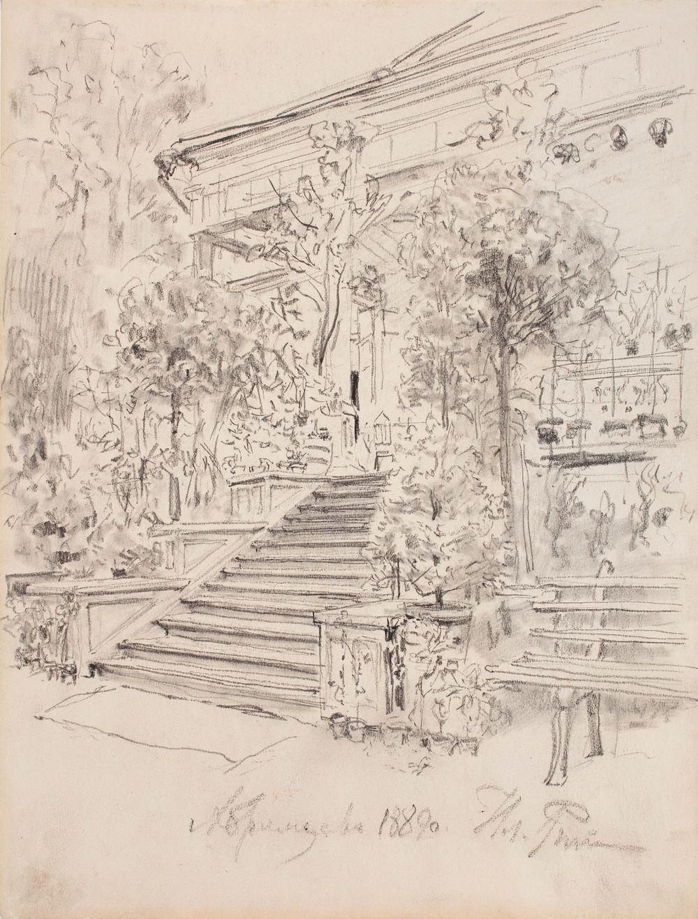 Abramtsevo, trappa till trädgården