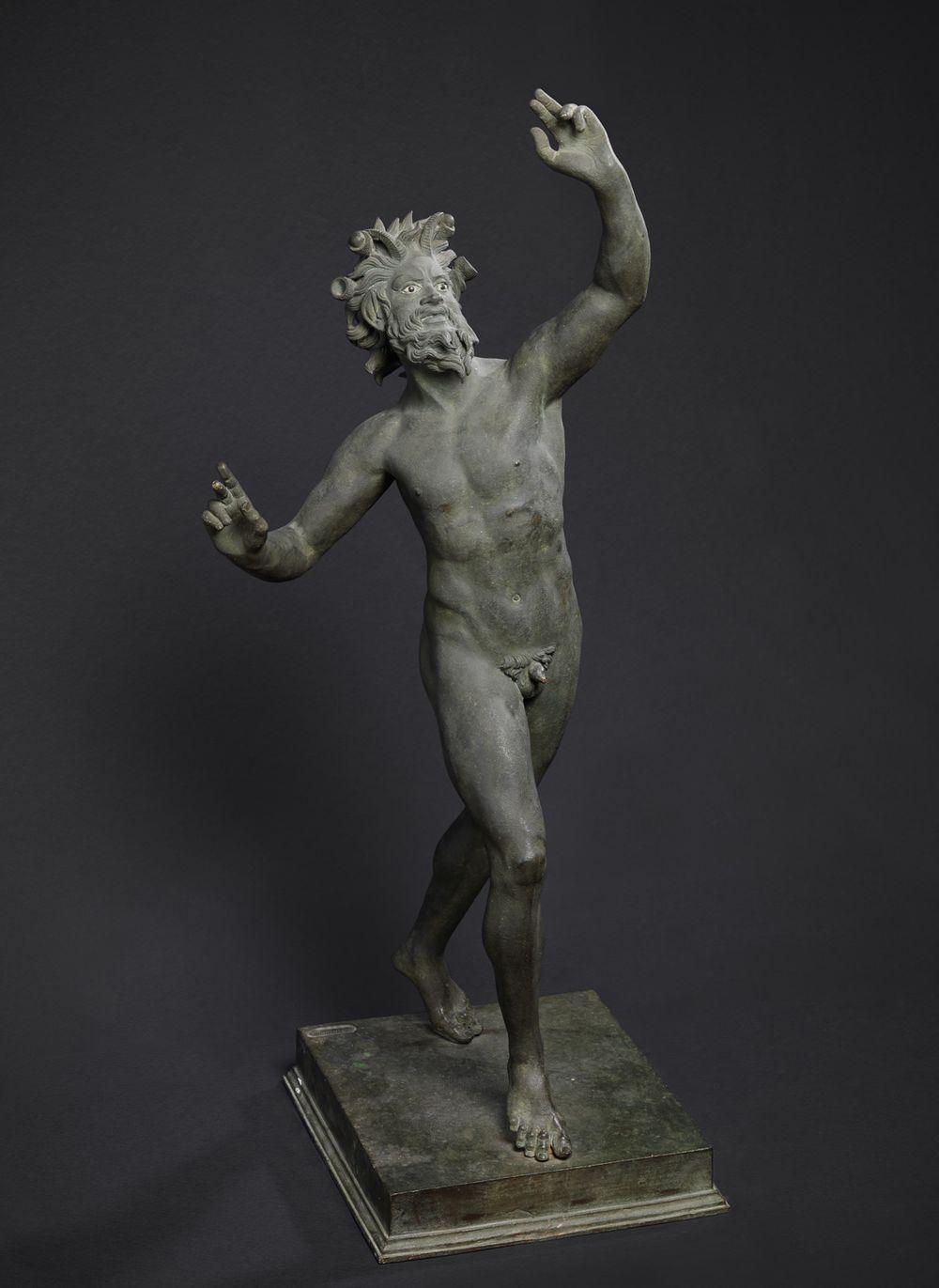 Tanssiva fauni, kopio antiikin teoksen mukaan