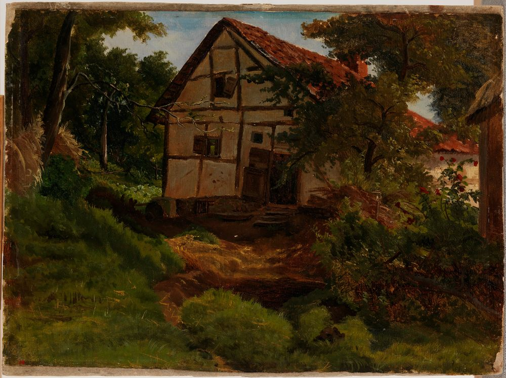 Saksalainen maalaistalo, harjoitelma