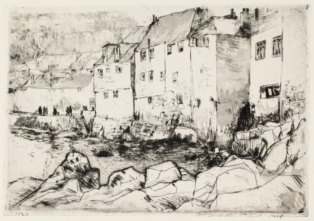 Houses on the Breakwater, St. Ives