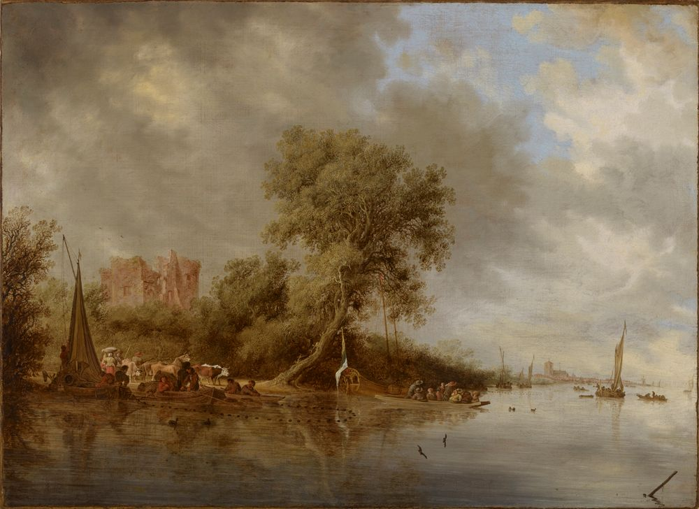 Jokimaisema, Egmondin linnan raunio