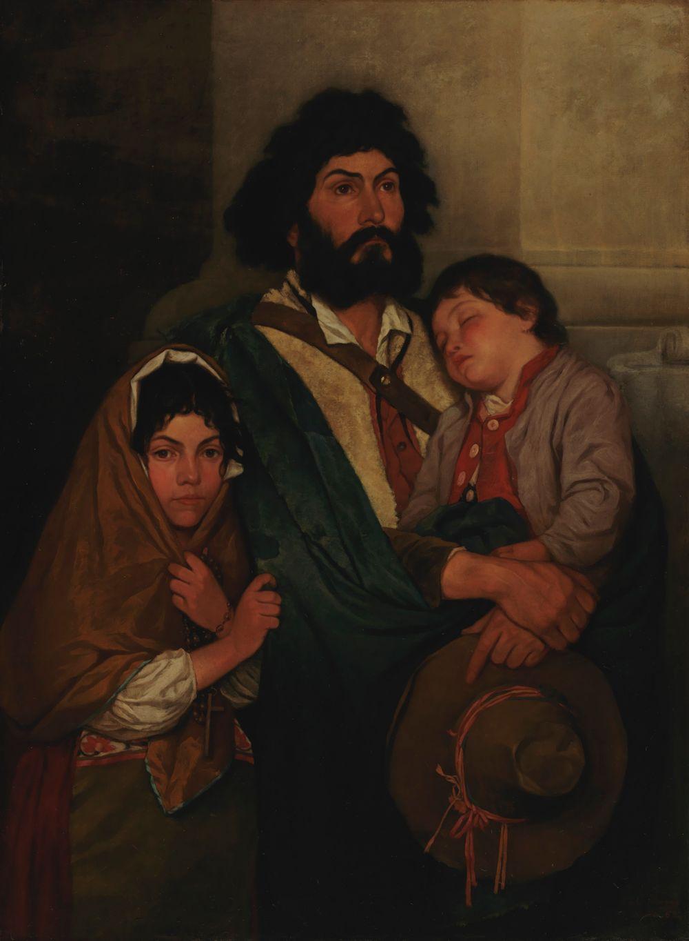 Isä ja kaksi lasta Subiacosta