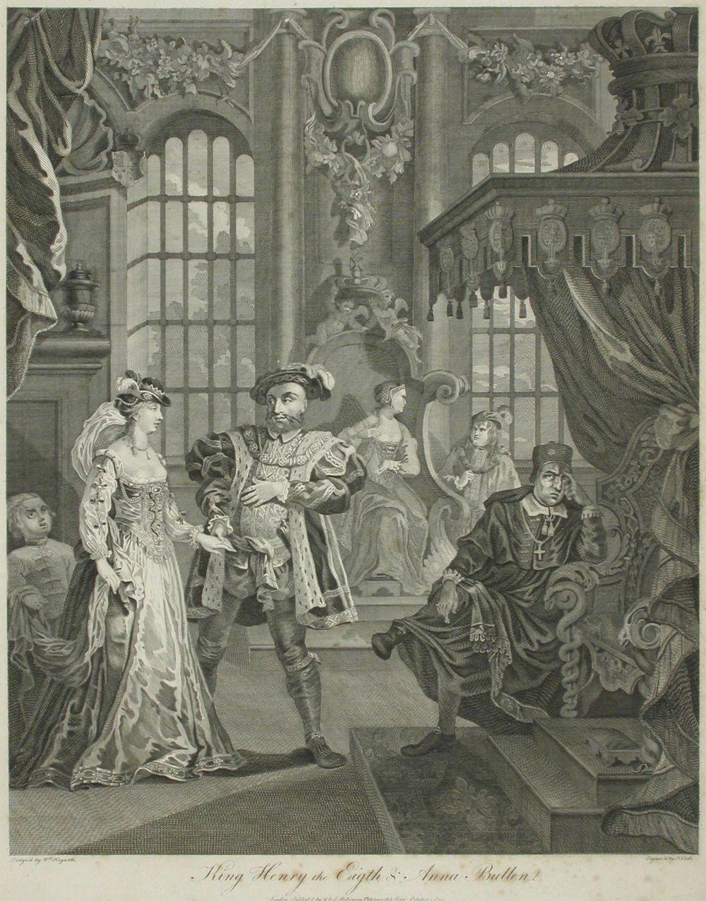 Kuningas Henrik VIII ja Anna Bullen (Boulen)