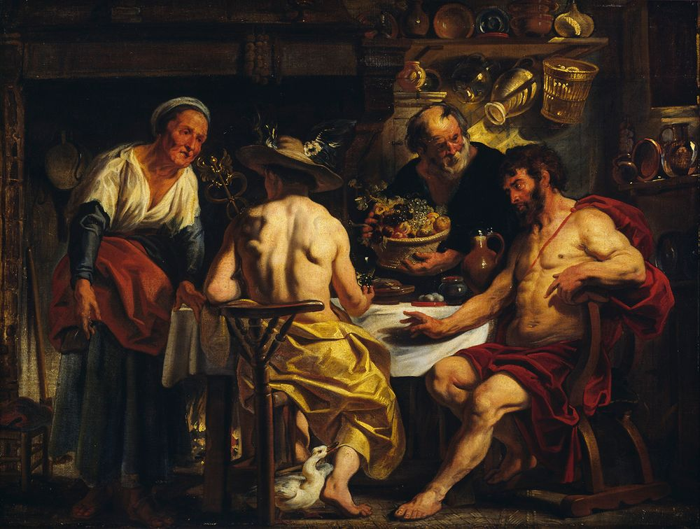 Jupiter ja Merkurius Filemonin ja Bauciin vieraina
