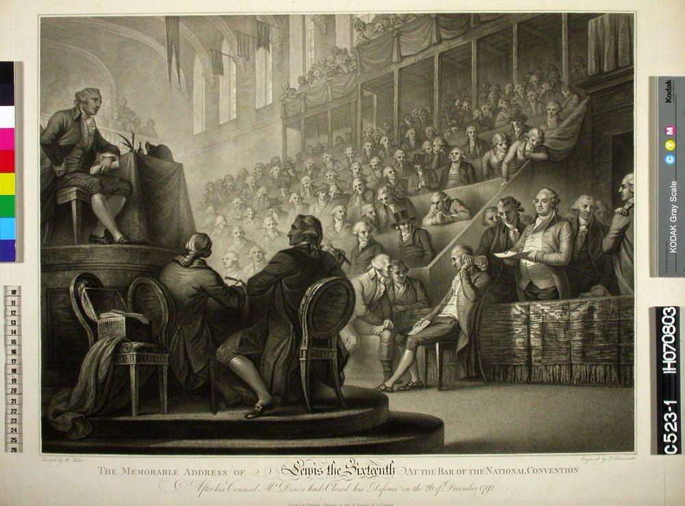Ludvig XVI Kansalliskonventin edessä 26. joulukuuta 1792