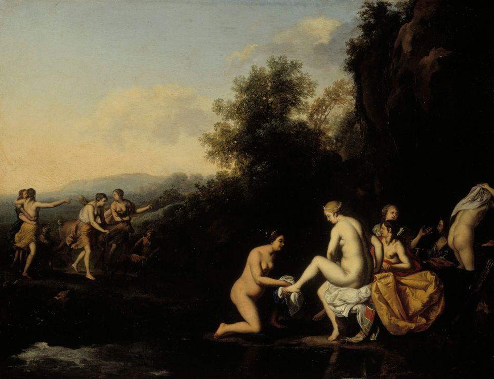 Diana ja kylpeviä nymfejä