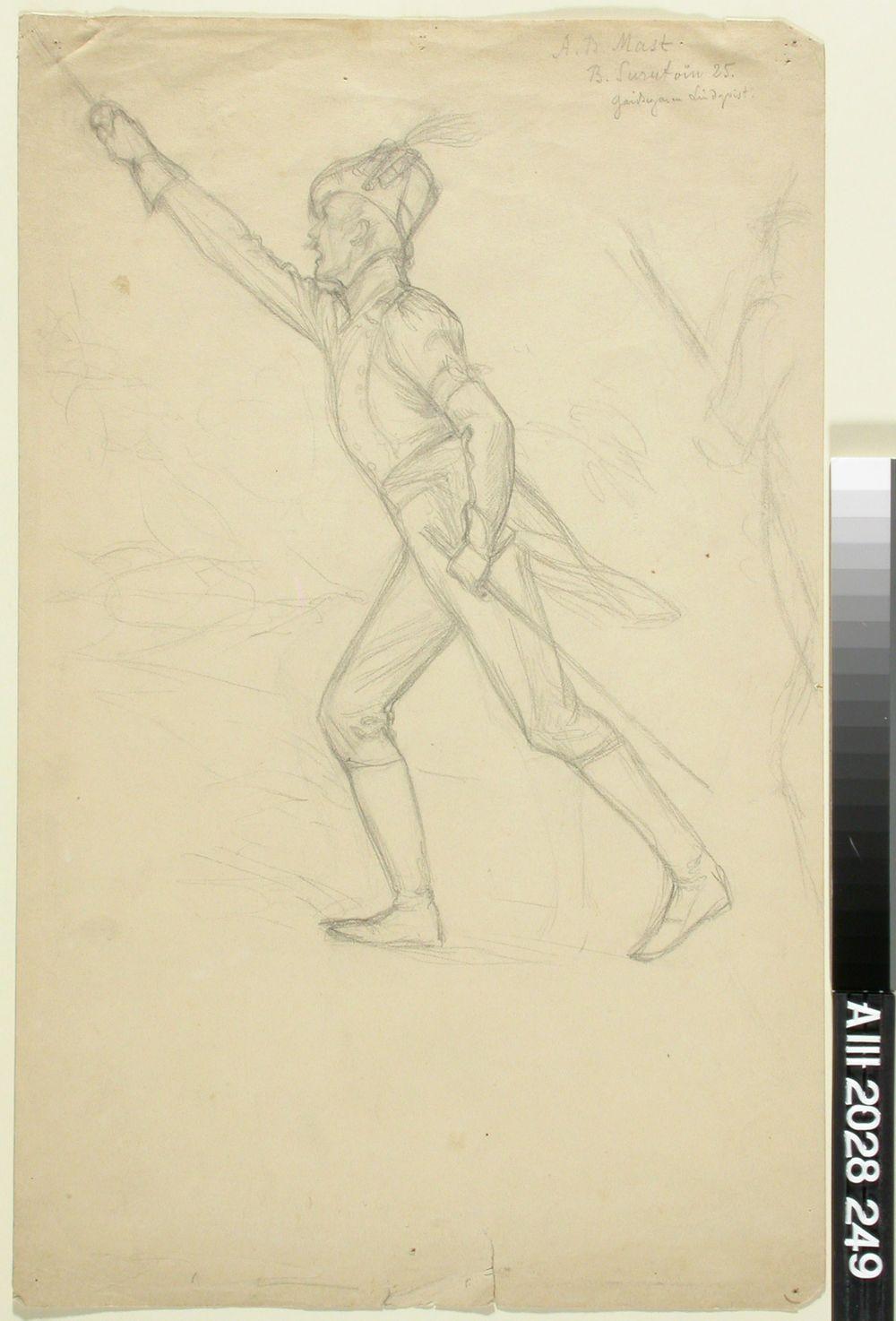 Luutnantti Ziden, luonnos Vänrikki Stoolin tarinain kuvitukseen