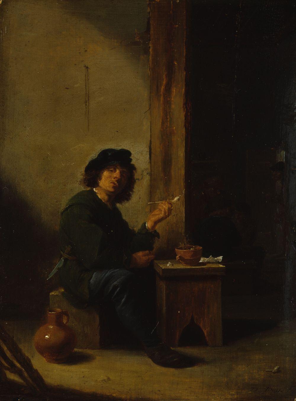 Tupakoiva mies