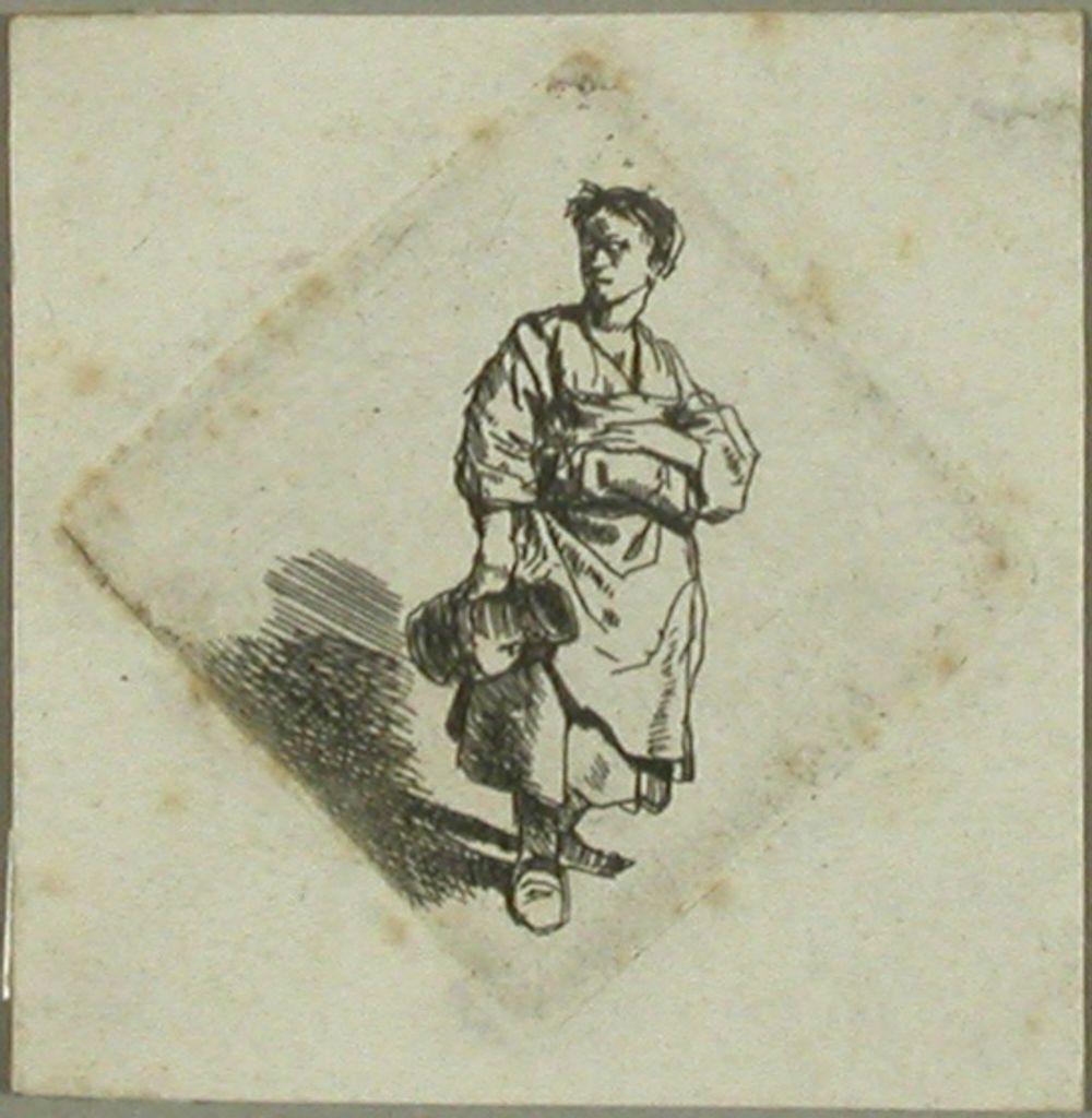 Kannu kädessä seisova nainen (La Femme a` la cruche)