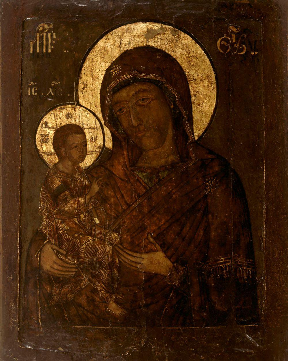 Jerusalemin Jumalanäiti, (Hodigitria), venäläinen ikoni