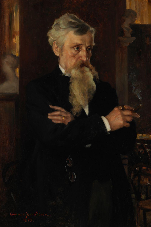 Päätoimittaja August Schaumanin muotokuva