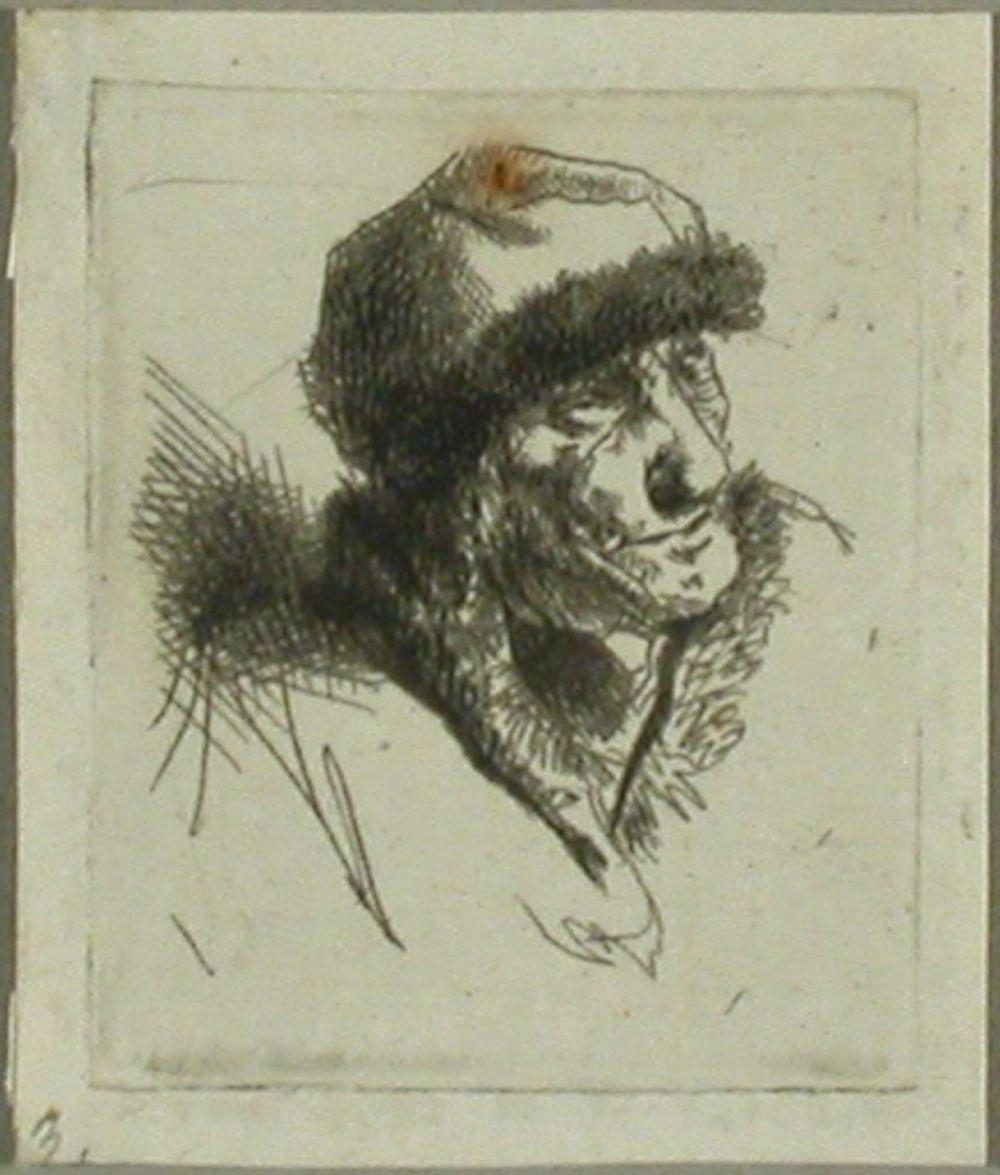 Karvahattuinen vanhus (Vieille en bonnet fourré)