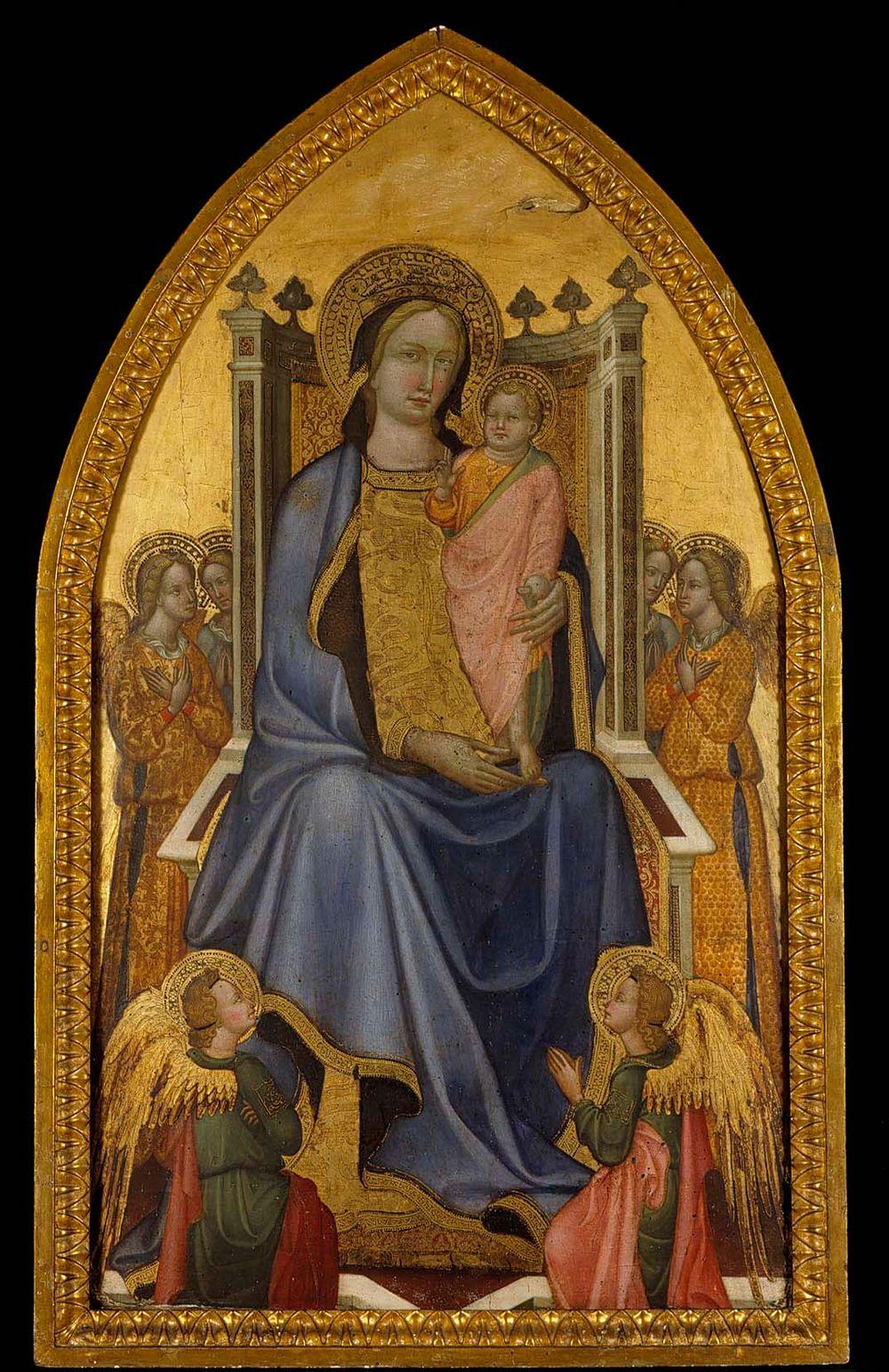 Madonna ja lapsi valtaistuimella