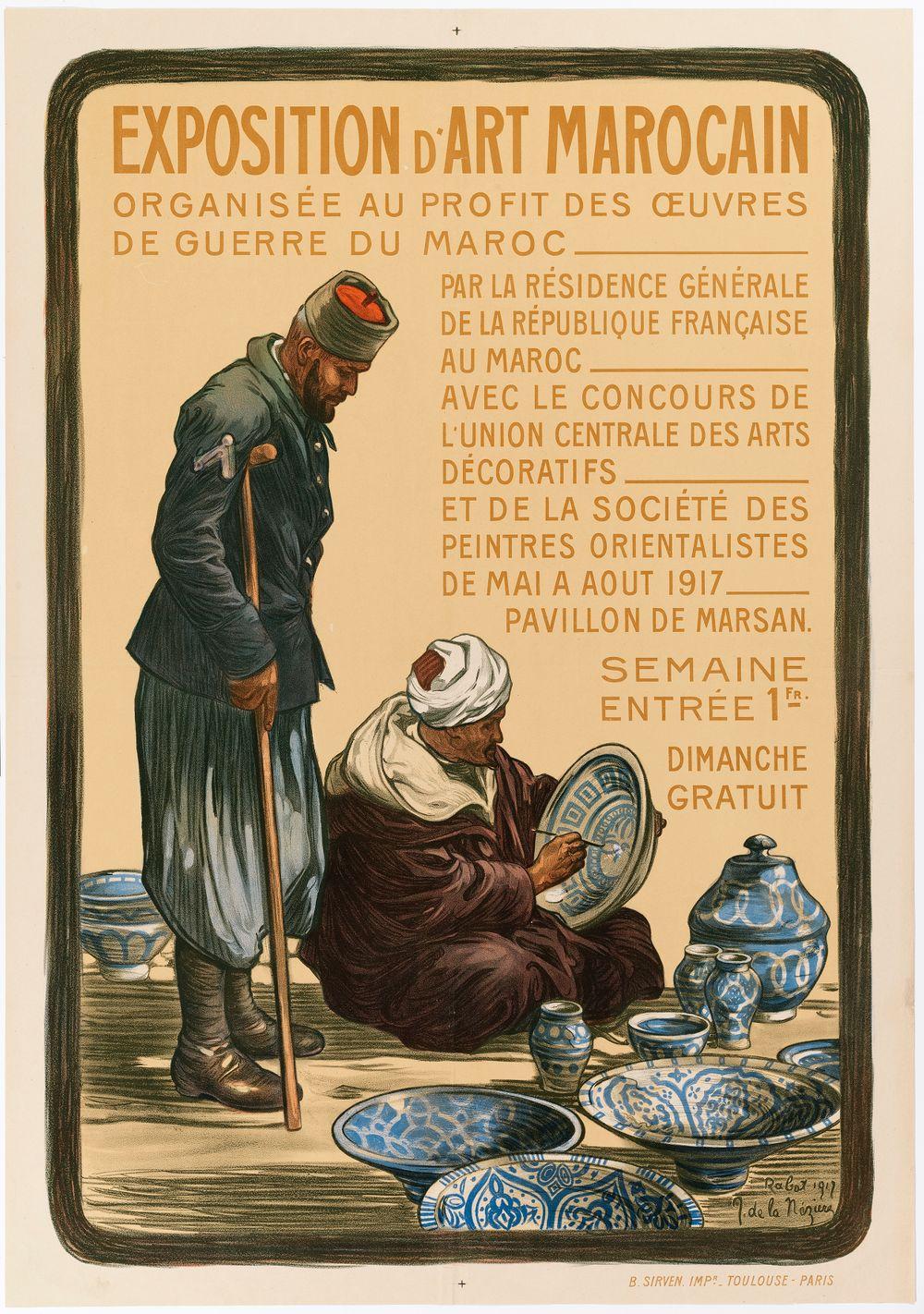 Exposition d'Art Marocain (juliste)