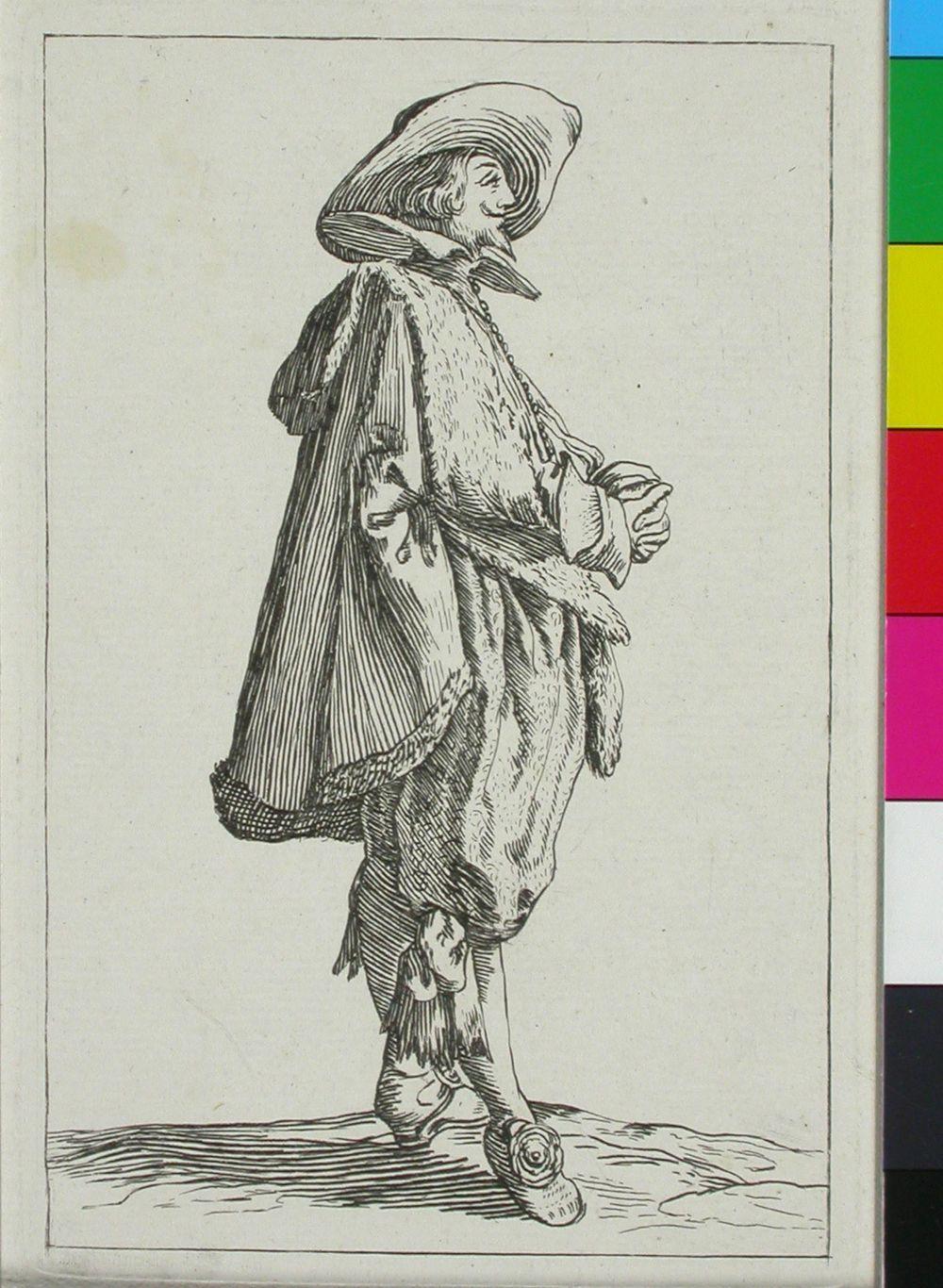 Mies 1600-luvun puvussa