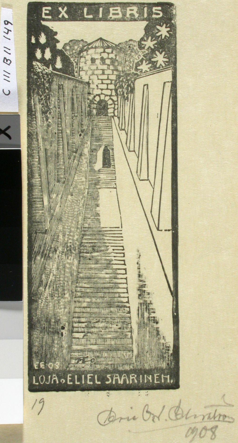 Loja ja Eliel Saarisen exlibris