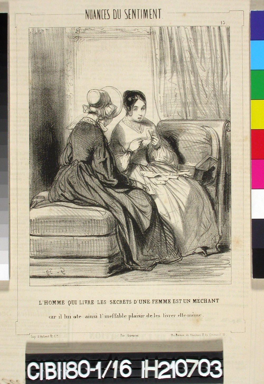 Tunteen vivahteita (Nuances du sentiment), sarja, n:o 13 (Charivari)