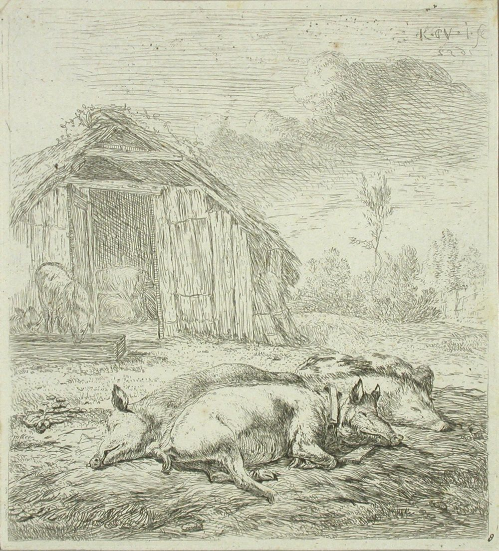 Kolme nukkuvaa sikaa
