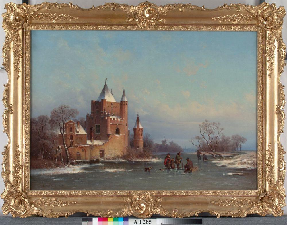 Talvimaisema Hollannista