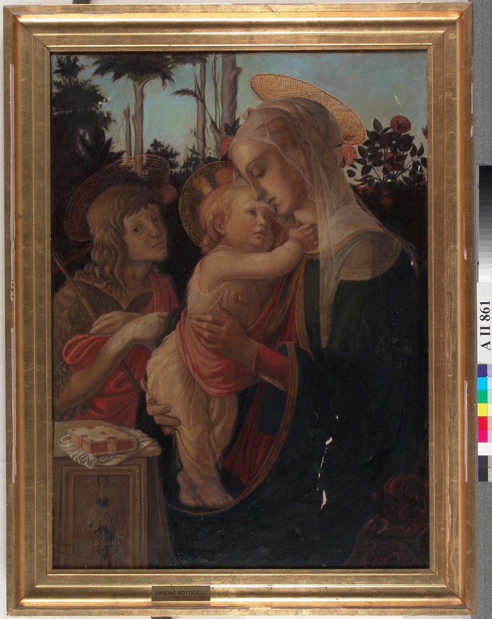 Madonna, Jeesus-lapsi ja Johannes, kopio Botticellin mukaan